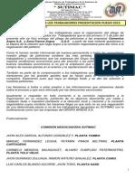 comunicado 001 a los trabajadores presentacion pliego 2015 julio 1