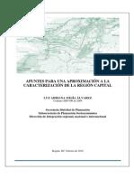 Apuntes Para Caracterizacion Regional Bogota