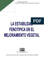 La Estabilidad Fenotipica en El Mejoramiento Vegetal