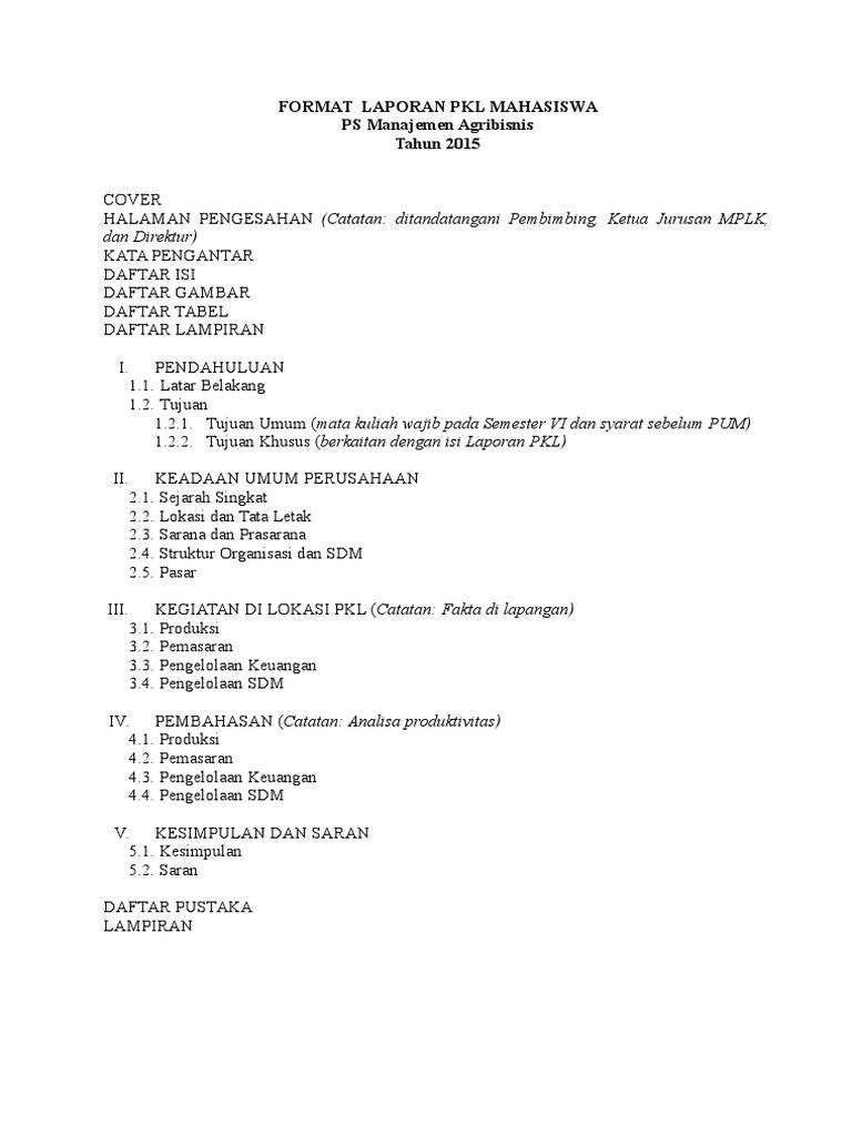 Contoh Laporan Magang Mahasiswa Manajemen Pemasaran Kumpulan Contoh Laporan