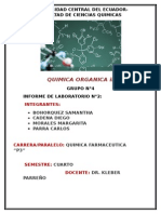Informe Informe 2 Orgánica II Al y Ce