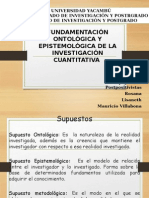 Fundamentacin Ontolgica y Epistemolgica de La Investigacin Cuantitativa