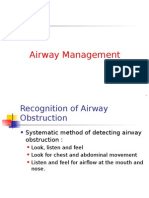 Airway Management recognition of airway obstruction
