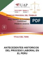 AYUDA 1 - Antecedentes Históricos Del Proceso Laboral en El Perú