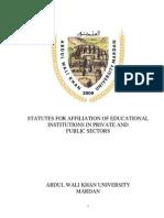 Affiliation Statutes