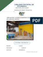 Ficha Técnica de Construccion de Almacenes