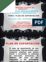 Plan de Exportacion Aduana