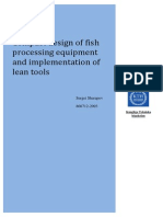 Compact design of fish processing equipment and implementation of lean tools