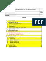 Memorandum de Planeación - Cliente Recurrente