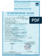 Certificate of Calibration and Verification
