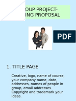 Group Project Training Proposal