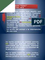 Hecho y Acto Juridico