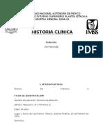 HISTORIA CLÍNICA DERMATOLOGÍA