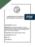 Uso de Testimonios y de La Historia Oral en Investigaciones de Historia Reciente - Galante