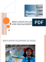 Educational Planning & Management