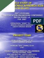 Field Study of Bridge Concrete Approach Slab
