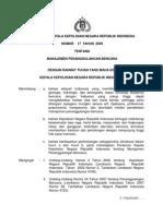 Peraturan Kapolri Nomor 17 Tahun 2009 Tentang Manajemen Penanggulangan Bencana