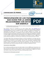 NP Intel Security - Preocupación de los padres hacia sus hijos por la amenaza de relacionarse con estafadores