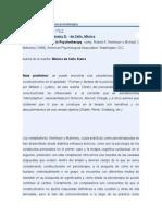 El constructivismo en psicoterapia RESE+æA DEL libro onstructivism in Psychotherapy