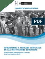 Aprendiendo a Resolver Conflictos en Las Instituciones Educativas
