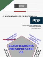2.- CLASIFICADORES PRESUPUESTARIOS