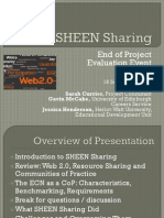 SHEEN Sharing Evaluation Event, September 16 2009, Glasgow