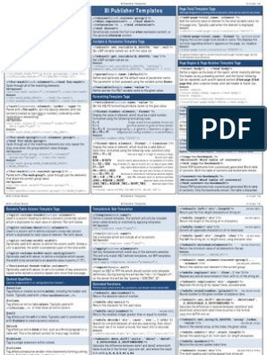 Cheatsheet BI Publisher | Xslt | String (Computer Science)