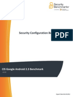 CIS Google Android 2.3 Benchmark