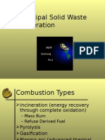 Incineration solid waste