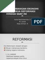 Perkembangan Ekonomi Pada Masa Reformasi Hingga Saat Ini