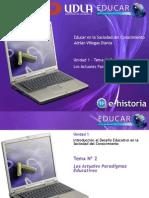 Tema02 Unidad2 Losactualesparadigmaseducativos 100328230551 Phpapp02