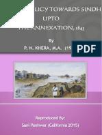 British Policy Towards Sindh Upto Its Annexation 1843