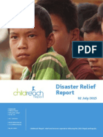Childreach Nepal - 2 Month Earthquake Report 2015