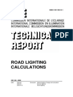 CIE 140-2000 Road Lighting Calculations