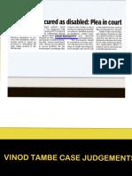 Vinod Tambe Case Judgements