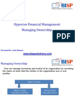Oracle Hyperion HFM Ownership Management