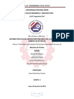 Informe Practica de laboratorio de Mecanica de fluidos
