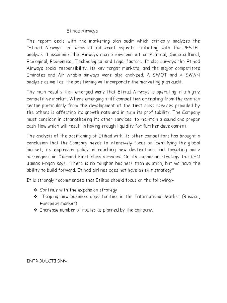 etihad airways mission statement
