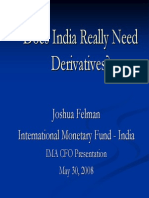 Why India Needs Derivatives - IMF