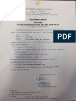 Ujian Kompre Bulan Juni 2015