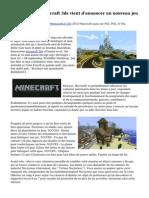 Le studio dos minecraft 3ds vient d'annoncer un nouveau jeu
