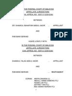 Dr. Shamsul Bahar Bin Abdul Kadir v RHB Bank Berhad (03(F)-5-12-2012(W))