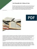 Mexicanos Leen En Promedio De 4 Libros Al Ano