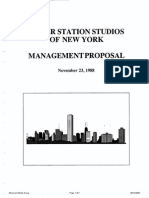 Power Station of New York Management Proposal November 23 1988