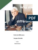 Jacques Derrida Fark