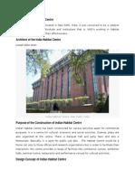 Design of India Habitat Centre 2.docx