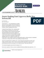 Senate Banking Panel Approves Shelby Reg Reform Bill _ American Banker