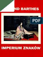 Roland Barthes Imperium Znaków 1999