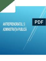 Antreprenoriatul Și Administrația Publică