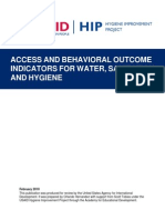Access and Behavioral Outcome Indicators for WASH